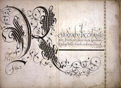 manuscrit de John Scottowe - Calligraphic Alphabet detenu par La Newberry Library de Chicago et daté de 1592.