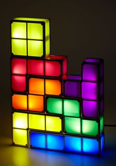 Add a ray of retro inspiration and a gleeful glow to your desktop or nightstand with this adjustable Tetris light set!