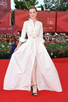Evan Rachel Wood in Alessandra Rich (Venice 2011)