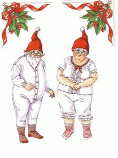 Bonecas de Papel: Papai Noel e Mamãe Noel Paper Dolls: Santa and mama. Also clothes and . Christmas Paper Crafts, Christmas Art, Winter Christmas, All Things Christmas, Vintage Christmas, Xmas, Father Christmas, Mrs Claus, Santa Clause