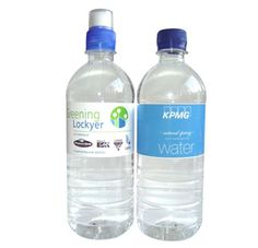 The 6ooml Custom Bottled Spring Water with full colour customised label and large space for your printed promotional branding, message or logo customised onto the promotional product and to suit your individual promotional marketing.