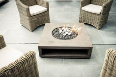lumineer fire feature by landscape furnishings.com
