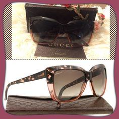 Authentic Gucci Sunglasses  Gucci introduced modern usage frames to the world. The materials used are of the highest quality. The styles are sleek and streamline. GREY GRADIENT lenses give clear vision and complete protection to the eyes by blocking harmful rays and extreme light brightness.Very beautiful and fashionable  trade lowballs ‼️PRICE FIRM‼️ Gucci Accessories Sunglasses