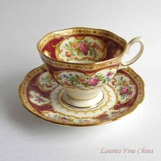 Royal Albert LADY HAMILTON Bone China Tea Cup by LauriesFineChina