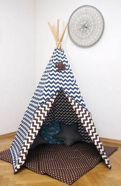 #pacztipi #pacz #teepee #tipi #wigwam #tent #chevron #pillows #stars #clouds #radosnafabryka #handmade Chevron, Kids Room, Toddler Bed, Room Decor, Clouds, Pillows, Cool Stuff, Stars, Fabric