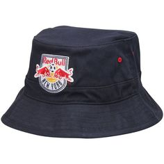 New York Red Bulls Mitchell  amp  Ness Navy Team Color Bucket Hat 1d140681e89