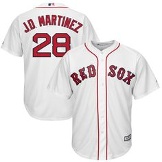 JD Martinez Boston Red Sox Majestic Official Cool Base Player Jersey - White 3a882c451