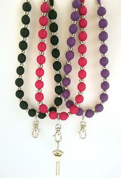 Beaded Necklace, Beaded Bracelets, Key Fobs, Tiffany, Jewerly, Projects To Try, Crafty, Lanyards, Diy