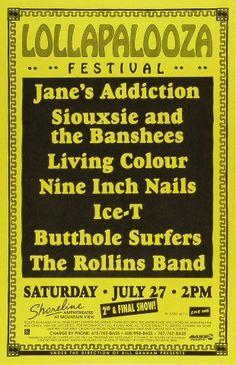 Jane's Addiction Poster  Shoreline Amphitheatre (Mountain View, CA) Jul 27, 1991