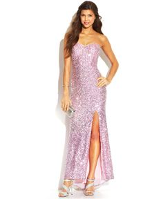Jump Juniors' Strapless Sequin Dress - Juniors Dresses - Macy's