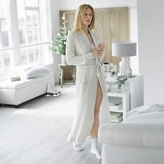 Shawl Collar Cashmere Robe | Robes & Slippers | Nightwear | Clothing | The White Company UK