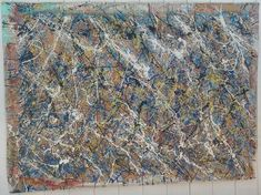XXL 1951 JACKSON POLLOCK SIGNED ABSTRACT MODERNIST PAINTING ON CANVAS #Abstract Paul Jackson, Action Painting, Jackson Pollock, Online Art, City Photo, Contemporary Art, Auction, Abstract, Canvas