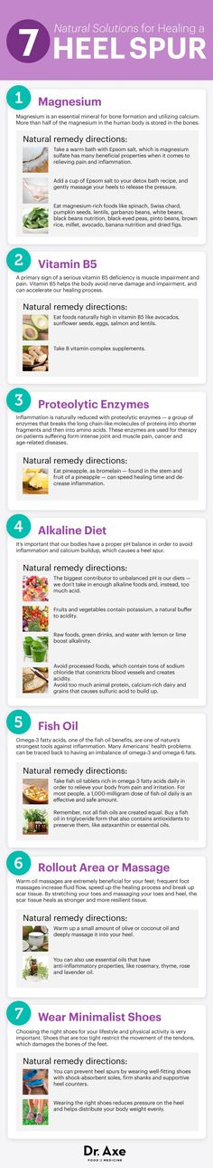 Heel spur natural remedies - Dr. Axe   http://www.draxe.com  #health #Holistic #natural