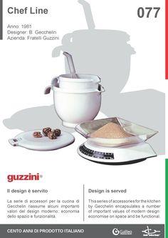 Chef Line by Bruno Gecchelin for Fratelli Guzzini (1981) #kitchen #modern #design