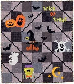 Trail Mix Mania - Halloween style!  'Step into Halloween' from the book Patchwork Plus by Geralyn Powers.