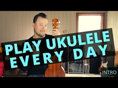 Face it, we all feel better when we play our ukulele for a little while. So why not do it a little EVERY DAY? Whether we're just tinkering around or we're ac. Daily Video, Ukulele, Feel Better, Announcement, Improve Yourself, Play, Feelings, Learning, Face