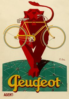 Product Description TITLE: Peugeot Lion ARTIST: Georges Favre CIRCA: 1928 ORIGIN: France Fine art giclee print on heavy acid free archival paper using 100+ year fade resistant inks. POSTER SIZING: The