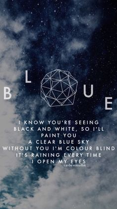 TROYE SIVAN - BLUE // LOCKSCREEN LYRICS WALLPAPER open for reqs