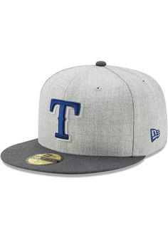 Texas Rangers New Era Mens Grey Heather Action Fitted 59FIFTY Fitted Hat  Texas Rangers T Shirts c46a6df9bf6c