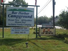 Bar Harbor Campground in Maine - Great family campground close to Acadia National Park. Great reviews, playground is perfect for children and all campsites (RV and tent) are wonderfully shaded!