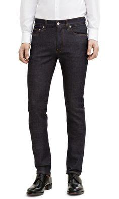Acne Studios Ace Comfort Raw Men's Skinny Denim Jeans indigo Blue 33x32 NWT $230 #Acne #SlimSkinny