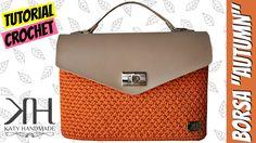 "Tutorial uncinetto borsa ""Autumn"" | Punto foglia | How to make a crochet..."