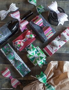 DIY: Paper Bows to Top Your Christmas Packages    Lia Griffith