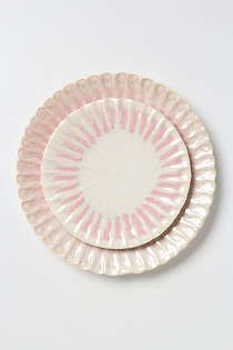 Anthropologie - Blushing Conch Dinner Plate