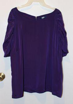 bea99b1b5d2 NWT ASOS Plum Purple Puffed Sleeve Womans Career Blouse Plus Size 22  ASOS   Blouse