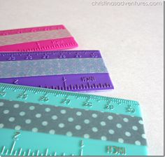 Embellish School Supplies with Washi Tape