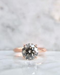 A gemstone solitaire may be the essential diamond engagement ring. Although other diamond engagement ring settings fall and rise in recognition, a solitaire ring is really a classic with constant, … Round Cut Engagement Rings, Antique Engagement Rings, Solitaire Engagement, Ring Verlobung, Beautiful Rings, Diamond Rings, Solitaire Rings, Solitaire Diamond, Halo Rings