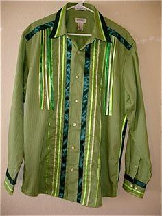 Men's ribbon shirt size XL