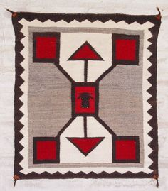 Storm Pattern Pictorial Single Saddle Blanket : Historic : GHT 2065