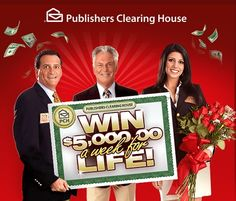 PCH $5000 a week for life sweepstakes - Sweeps Maniac