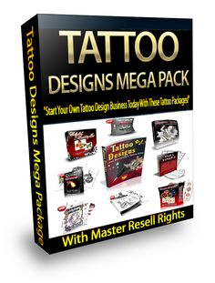 Tattoo Designs Mega Package With MRR