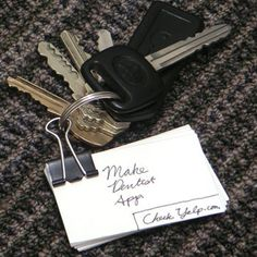 The Hipster PDA Keychain