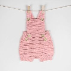 CROCHET PATTERN  Crochet Baby Romper Pure Happiness  Babay