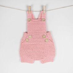CROCHET PATTERN  Crochet Baby Romper Pure Happiness  Babay