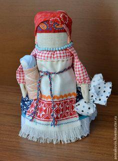 """Кукла """"Берегиня"""" - ярко-красный,оберег для дома,народная кукла,народные традиции"""