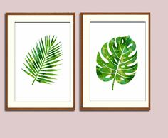 Wandgestaltung - Blätter 2erSet A4 - ein Designerstück von suniwaco bei DaWanda