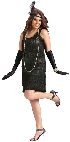 Plus Size Costumes | ... Black Flapper Girl Plus Size Costume Flapper Costumes - Mr. Costumes