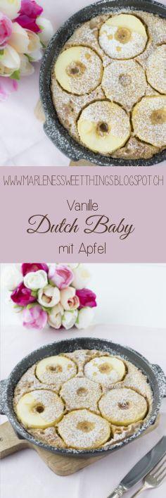 Vanilla Dutch Baby mit Äpfeln - Vanilla Dutch Baby with apples