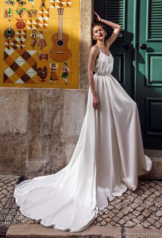 21 Best Of Greek Wedding Dresses For Glamorous Bride 21 Best Of Greek Wedding Dresses For Glamorous Bride ♥ Do you want a greek wedding dress? How about some greek wedding dresses that will give you a taste of what you may be looking f Greek Wedding Dresses, Different Wedding Dresses, Wedding Dresses With Straps, Country Wedding Dresses, Princess Wedding Dresses, Wedding Dress Styles, Wedding Gowns, Wedding Bride, Ball Dresses