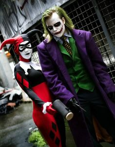 Joker and Harley Quinn cosplay