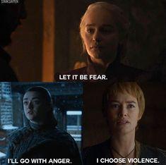 Ladies of Westeros are a tad angry 😂 Season Game of Thrones. Game Of Thrones Arya, Game Of Thrones Quotes, Jon Snow Targaryen, Daenerys Targaryen, Khaleesi, I Love Games, Valar Morghulis, Valar Dohaeris, Wtf Moments