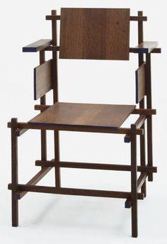 Gerrit Rietveld. Hoge Stoel Highback Chair. 1919