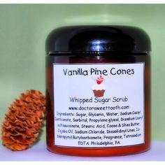 Vanilla Pine Cones Whipped Sugar Scrub.