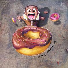 Donuts raining from the sky? Every kid's dream 🍩🍩🍩🍩🍩🍩🍩🍩. - Kreide und so :) - Etsy Artist, Donut Art, Drawings, Street Chalk Art, Sidewalk Art, Art, Original Drawing, Art Competitions, Sidewalk Chalk Art