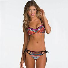 2a38fd1f91c5f2 Sexy Strap Multicolor Geometric Racerback Bikinis Set – USD $ 12.99 Sexy  Bikini, Bikini Push