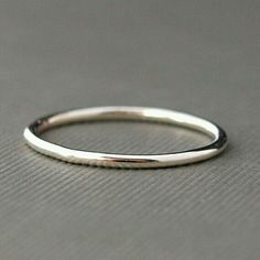 Plain smooth silver ring band
